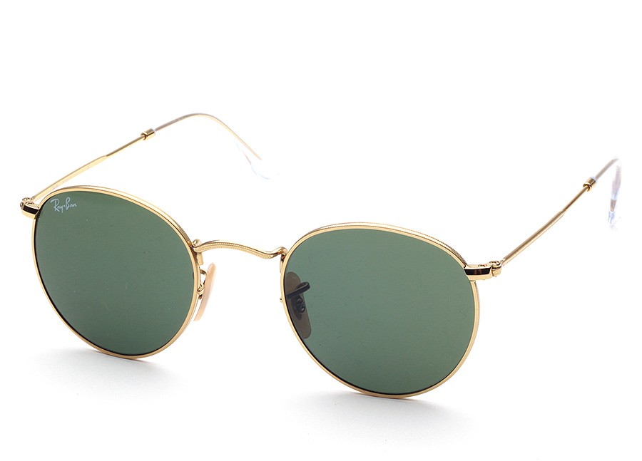 eb7e47d36d6114 Vollrandbrille Ray Ban Round Metal RB 3447 001 small Eye-Net Shop
