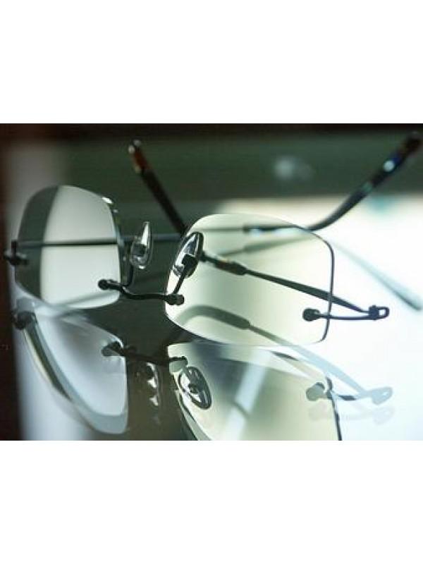 1 Paar Kunststoffgläser incl. Einarbeitung in randlose Brille